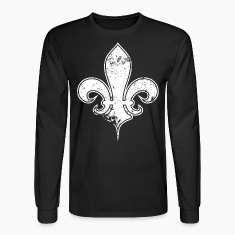 Black fleur de white Long Sleeve Shirts
