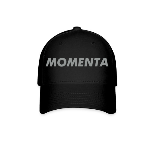 Baseball cap. Black with silver grey logo on front. - Baseball Cap