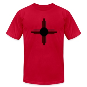 Zia on Red AA - Men's Fine Jersey T-Shirt