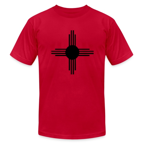 Zia on Red AA - Men's T-Shirt by American Apparel