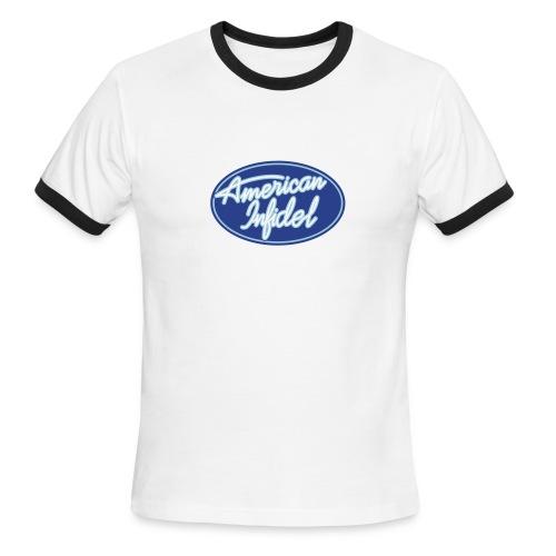 American Infidel Logo Ringer Tee - Men's Ringer T-Shirt