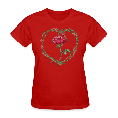 Red cagedheart_copy Women's T-Shirts
