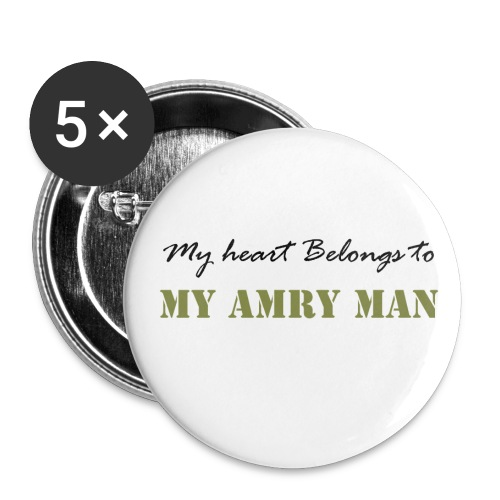 Army Button - Buttons large 2.2'' (5-pack)