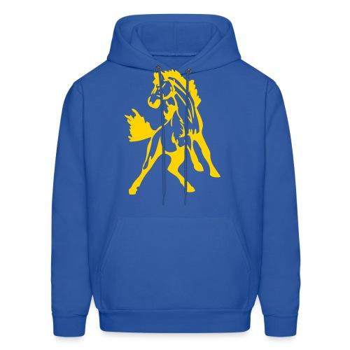 Mustangs Blue Hoodie - Men's Hoodie