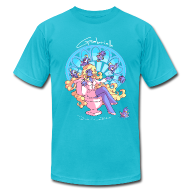 T-Shirts ~ Men's T-Shirt by American Apparel ~ Gabrielle - Aqua