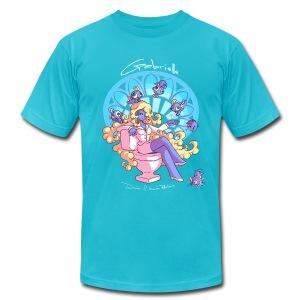 Gabrielle - Aqua - Men's Fine Jersey T-Shirt
