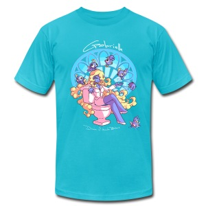 Gabrielle - Aqua - Men's T-Shirt by American Apparel