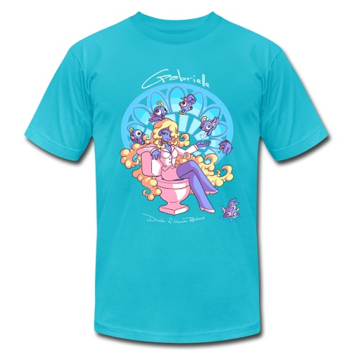 Gabrielle - Aqua - Men's  Jersey T-Shirt