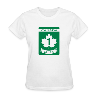 White Canada Rules Women's T-Shirts