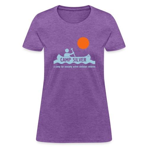 Official CAMP FOR SEXUALLY ACTIVE CHRISTIAN CHILDREN T-shirt - gray - women - Women's T-Shirt