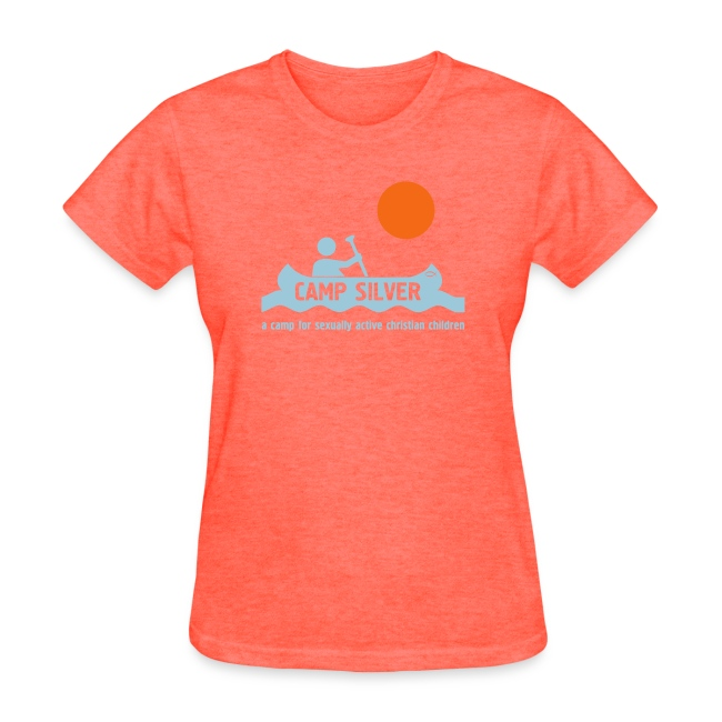 Official CAMP FOR SEXUALLY ACTIVE CHRISTIAN CHILDREN T-shirt - gray - women