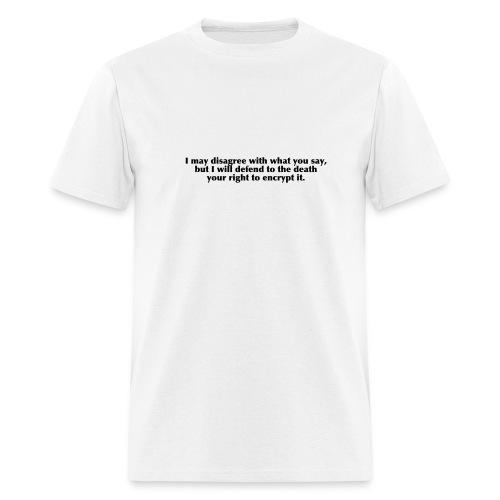 Disagree/defend right - Men's T-Shirt
