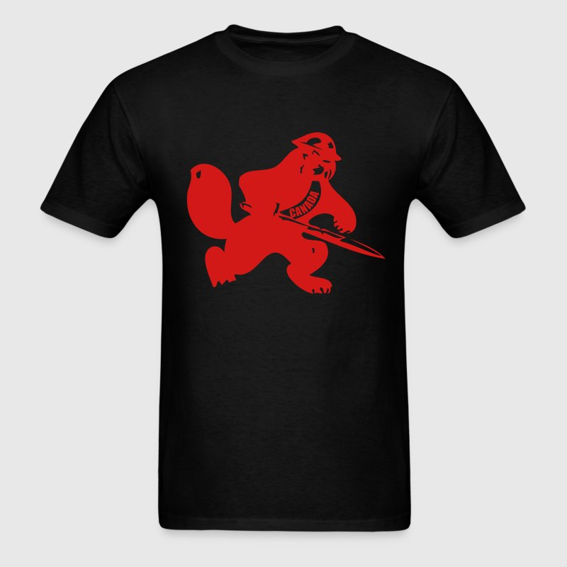 Black Beaver Soldier T-Shirts - Men's T-Shirt