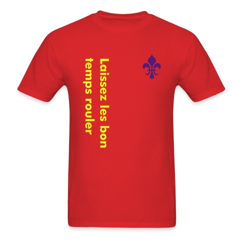 Bon Temps Tee (red) - Men's T-Shirt