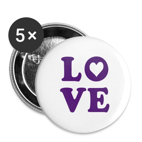 L.O.V.E pin - Large Buttons