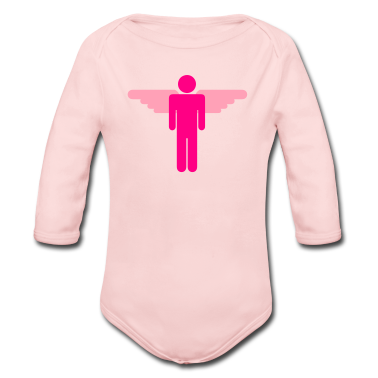 Light pink simple man with wings Baby Body