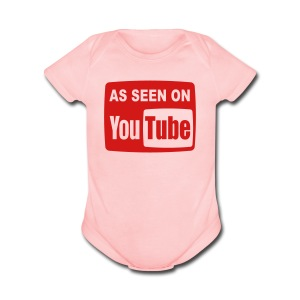 AS SEEN ON YouTUBE Baby Apparel - Short Sleeve Baby Bodysuit