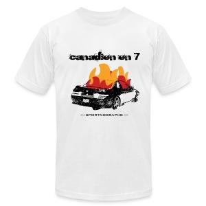 Canadien 7 - blanc - T-shirt pour hommes
