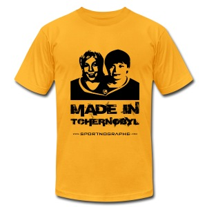 Made in Tchernobyl - jaune - T-shirt pour hommes American Apparel