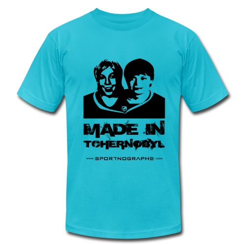 Made in Tchernobyl - jaune - Men's Fine Jersey T-Shirt