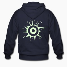 Navy splat_target_1_colour Zip Hoodies/Jackets