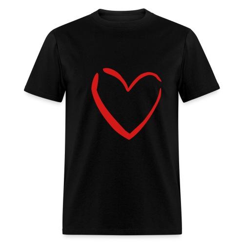 Men's T-Shirt with Heart - Men's T-Shirt