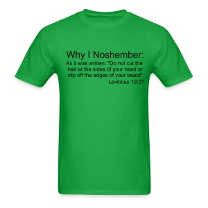 Why I Noshember, Lev 19:27 Men's Tee - Black Text - Men's T-Shirt