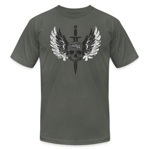 Vintage Skull and Graffiti Logo - Men's Fine Jersey T-Shirt