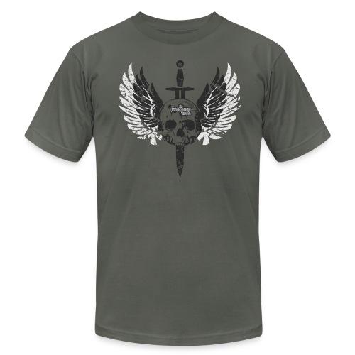 Vintage Skull and Graffiti Logo - Men's  Jersey T-Shirt