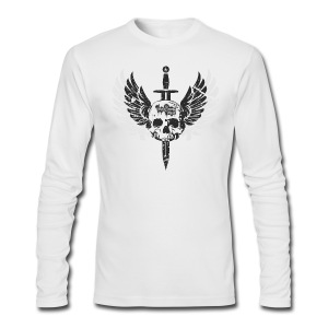 Vintage Skull and Graffiti Logo - Men's Long Sleeve T-Shirt by Next Level