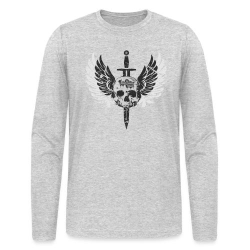 Vintage Skull and Graffiti Logo - Men's Long Sleeve T-Shirt by Next Level