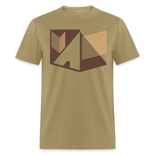 Vintage Skull and Graffiti Logo - Men's T-Shirt