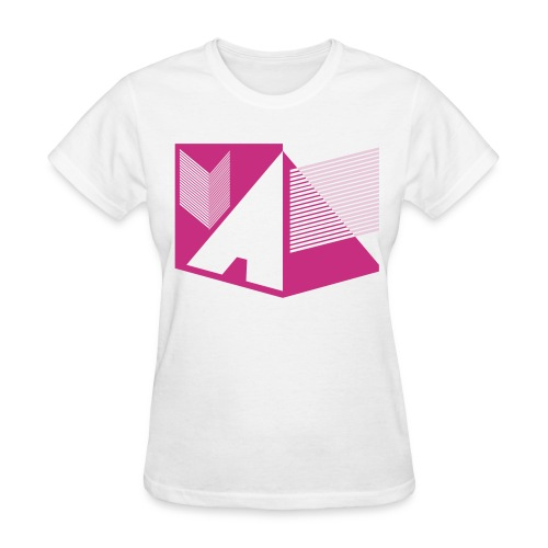 Vintage Skull and Graffiti Logo - Women's T-Shirt