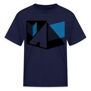 Vintage Skull and Graffiti Logo - Kids' T-Shirt
