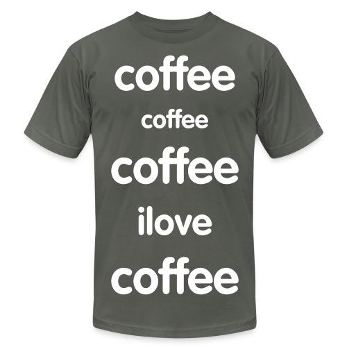 Coffee Song - Men's Fine Jersey T-Shirt