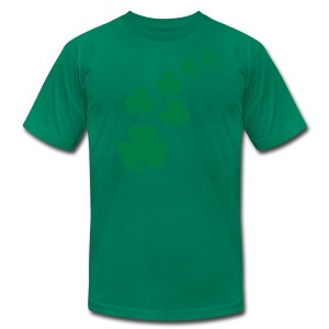 Shamrocks - Men's T-Shirt by American Apparel
