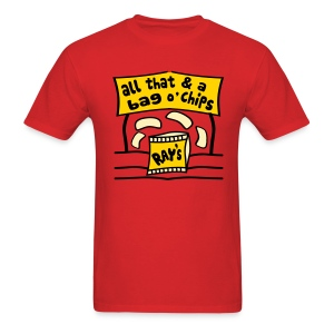 WUBT 'All That And Bag O' Chips' Men's Standard Tee, Red - Men's T-Shirt