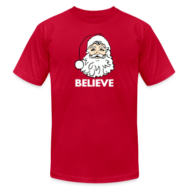 Red I Believe in Santa Claus T-Shirts