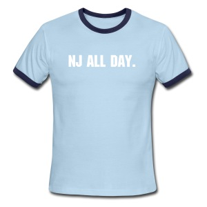NJ all day. - Men's Ringer T-Shirt