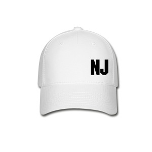 Black on White NJ Hat - Baseball Cap