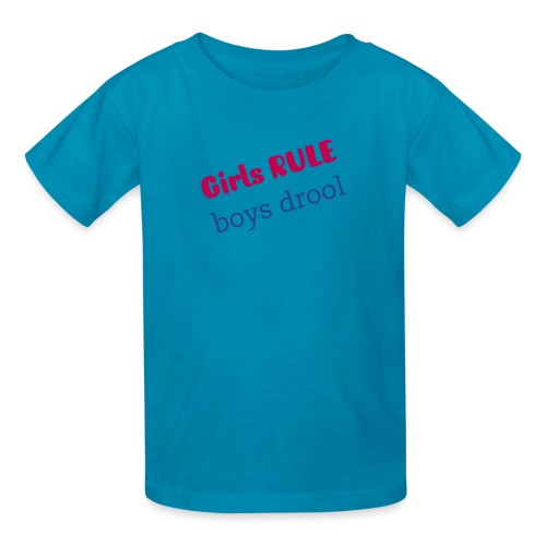 girls rule - Kids' T-Shirt