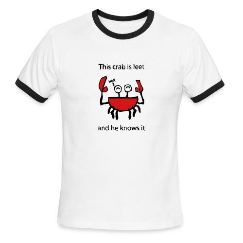 Leet Crab + LOL - Men's Ringer T-Shirt