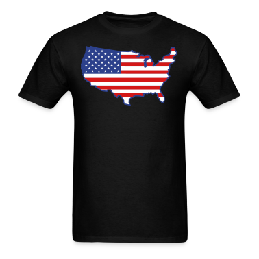 Black Flag USA Map T-Shirts