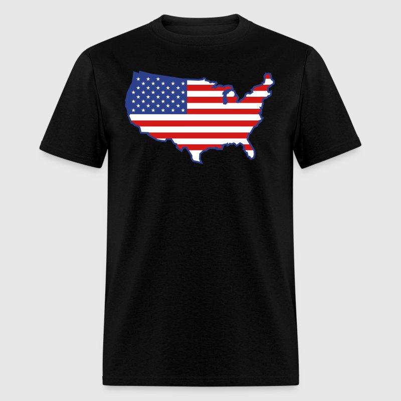 Flag usa map t shirt spreadshirt for T shirt design usa