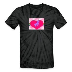 Tie Dye Planet Unicorn Logo - Unisex Tie Dye T-Shirt