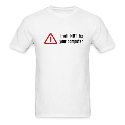 For the computer expert in your life - Men's T-Shirt