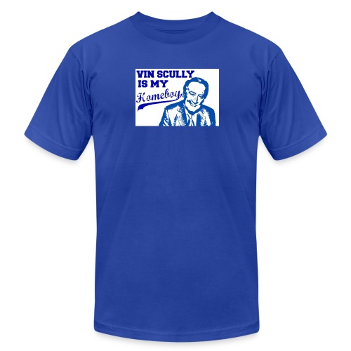 Vin Scully - Think Blue - Men's Fine Jersey T-Shirt