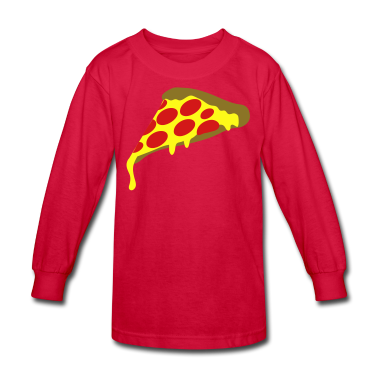 Red pepperoni pizza slice Kids' Shirts