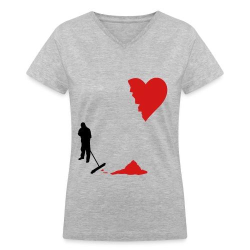 cleanup - Women's V-Neck T-Shirt