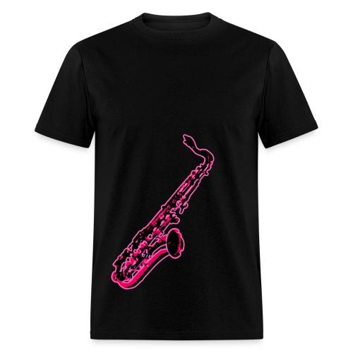 Hot Pink Sax - Men's T-Shirt
